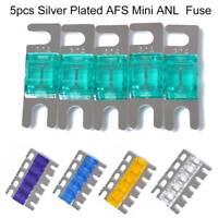 KnuKonceptz Silver Plated Mini ANL 20A Fuse 5pk MIDI AFS