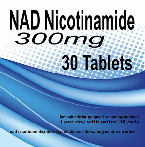 NAD Nicotinamide Riboside Cell Regenerator 300mg NIAGEN  x 30 tablets