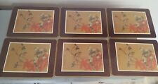 MARKS & SPENCER ORIENTAL PLACE MATS TABLE MATS M & S  ST MICHAEL X6
