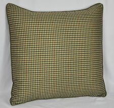 "Pillow made w/ Ralph Lauren Edgefield Green Herringbone Fabric 24"" trim cording"