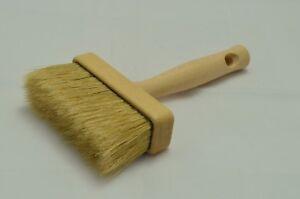 110 x 30 Wooden Pure Bristle Ceiling Brush, Block Paint Brush, Masonry, Fence.