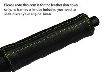 GREEN STITCH HANDBRAKE HANDLE LEATHER SKIN COVER FITS NISSAN 300ZX Z31 1984-1989