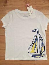 NWT Vineyard Vines Girls S/S SAILBOAT Tee Shirt White Cap 4T