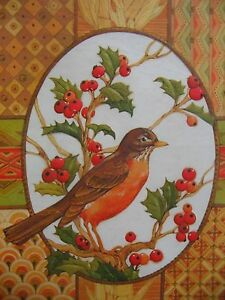 24 Vintage 1970s Drawing Board Judy Hand Christmas Cards Robin Holly Berries