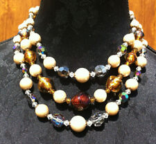 Collier perles Murano 3 rangs. Necklace 3 strings Christian Dior 1961  COLLECTOR