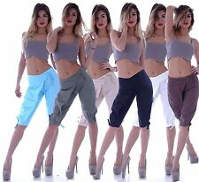 Markenlose bequem sitzende Damenhosen aus Leinen