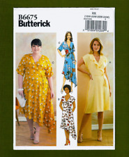 NEW! Wrap Dress Sewing Pattern~Tie Closures! (Plus Sizes 18W-24W) Butterick 6675