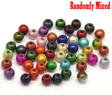 Mixed Miracle Acrylic Round Spacer Beads 6mm, packet of 500