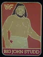Wrestling Pin ~ Big John Studd -2 ~ '90 Vintage  WWF