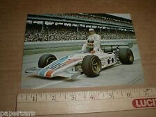 Mike Mosley #98 Eagle Offy USAC vintage Indy 500 auto racing postcard handout NM