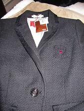 Coach Jacket Emma Poppy Blazer # 81302 Black Coat  / Jacket New WTag Small