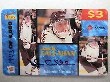 JACK CALLAHAN Rookies Autogramm Sport Eishockey Limitierte Telefonkarte Sprint