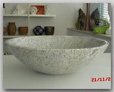 Waschbecken aus Granit, Kashmir White, D43x13cm, poliert, NEU!!