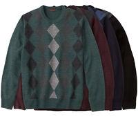 New Dockers Men's Crewneck Pullover Argyle/Diamond Sweater Size XL MSRP $50