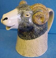 QUAIL CERAMIC SWALEDALE SHEEP RAM HALF PINT JUG - FARM ANIMAL MODEL OR FIGURE