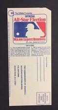 1977 MLB All Star Baseball Game Ballot Toronto Blue Jays 1st Season Alan Ashby