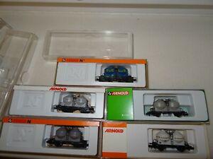 Spur N  Arnold Güterwagen Behälterwagen 4514 4515 4518 4505 HN6007 Staubgutwagen