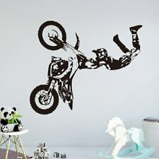 Motorcross Wall Stickers Motorcycle Vinyl Decal Moto Wall Decor Extreme Sport