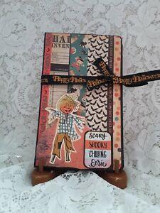 Halloween Scarecrow Junk Journal Album Diary Scrapbook Tea-dye Parchment Paper