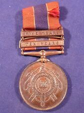 RARE NATIONAL FIRE BRIGADES ASSOCIATION LONG SERVICE BRONZE MEDAL + 5 & 10 YEAR