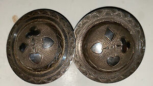 BEAUTIFUL VINTAGE  STERLING SILVER ROSETTES MADE BY COMSTOCK HERITAGE