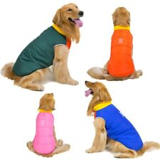 Windproof Warm Winter Dog Vest Coat Clothes Padded Pet Zip Jacket Medium Large