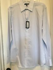 Murano Men's  light blue shirt, Size M, long sleeve, button down, NWT
