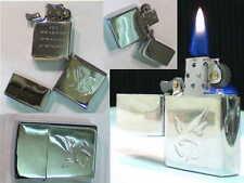 Briquet ancien { ASTERIX Tempête - Art Déco } Strom Lighter Feuerzeug Accendino