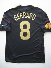 Adidas Liverpool Europa League 2009 Gerrard Player Issue Football Shirt Jersey
