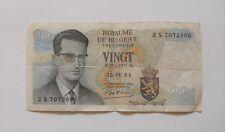 1 billet 20 francs belges  -  Roi Baudoin  -  émis le 15-06-1964