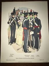 Military Uniforms in America Print #357 1971 Indiana Volunteers Mexican War 1846