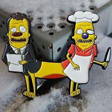 Michael Pichael Enamel Lapel Pin CatDog Rick & Morty Nickelodeon 90s Mashup
