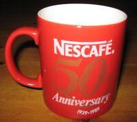 Classic Retro Nescafe 50th Anniversary 1939-1989 Coffee Mug - Now Rare
