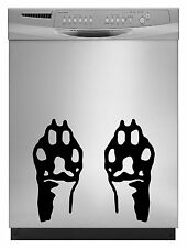 Cat Paws Decal Sticker for Dishwasher Refrigerator Washing Machine Stove Dorm
