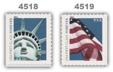 4518-19 4519 Forever Lady Liberty & Flag 2 ATM Singles From 2011 MNH - Buy Now