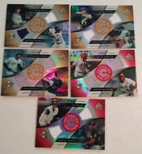 lot of 5 2005 UD Reflections dual jersey cards Thome, Vlad Guerrero, Beltran ++