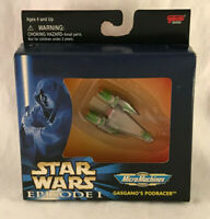 Vintage 1999 Star Wars Episode 1 Micro Machines Gasgano's Podracer - New In Box