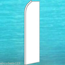 WHITE SOLID COLOR FLUTTER FLAG Event Feather Swooper Bow Banner Advertising Sign