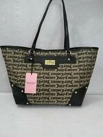 NWT Juicy Couture Black & Beige Gothic Love Me Not XL Tote Retails For $109
