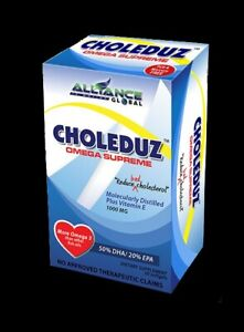 AIM Global CHOLEDUZ OMEGA SUPREME DIETARY SUPPLEMENT High Potency Fish Oil 30gel