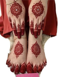 3 Red Henna Paste Cones Temporary Tattoo Ink