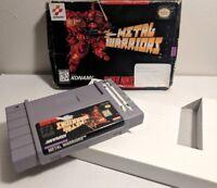 Metal Warriors - Super Nintendo SNES - Game Cart + Box Rare *Authentic*