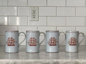 "ONE Vintage Spode Trade Winds Commemorative 5"" Grand Mug Red Ships England"