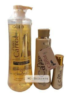 Pure Carrot Gold With Arbutin Fair Lightening Lotion+ Serum & Body Bath