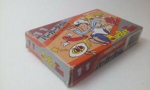 ✨ Burger Time 11 Namcot 1985 Namco Famicom Nintendo Boxed FC NES NBT-4500  ✨