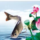"4.72"" Multi-Jointed Hard Fishing Lure Salt water Swimbait Crank Bait w/ 2 Hooks"
