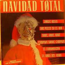 """NAVIDAD TOTAL- JINGLE BELLS, LOS PECES EN EL RIO ETC.. LP 12"""" SPAIN 1992 EXCELLE"""