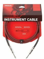 D'Addario Braided Instrument Cable Red 20 feet PW-BG-20RD