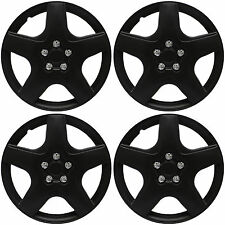 "4 Pc Set 15"" inch BLACK MATTE Hub Caps Cover for OEM Steel Wheel Covers Cap"