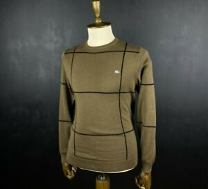 Lacoste Crew Neck Wool Sweater Size 3